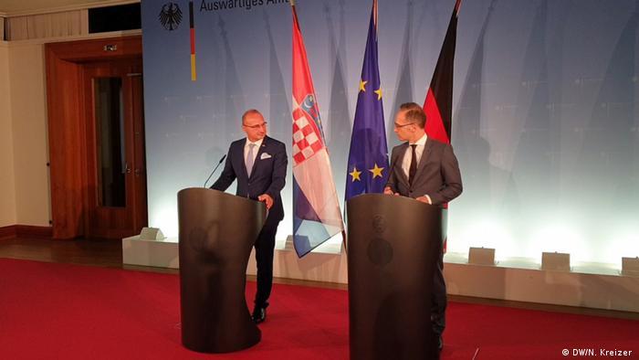 Ministri spoljnih poslova Hrvatske Gordan Grlić i Nemačke Haiko Mas