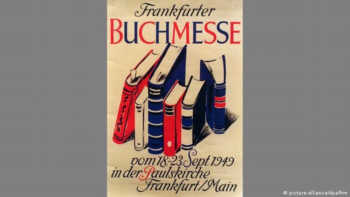 Plakat der Buchmesse aus dem Jahr 1949 (picture-alliance/dpa/frm)