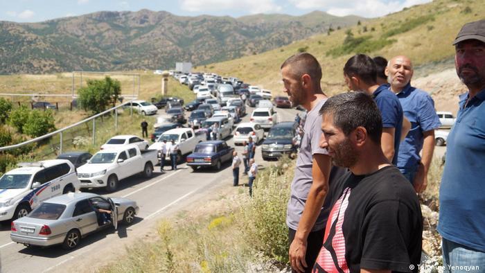 Proteste gegen die Goldmine Amulsar in Armenien