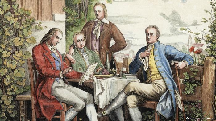 Братья Гумбольдт, Гёте и Шиллер