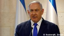 Israeli Prime Minister Benjamin Netanyahu speaks at a news conference in Jerusalem September 9, 2019. REUTERS/Ronen Zvulun
