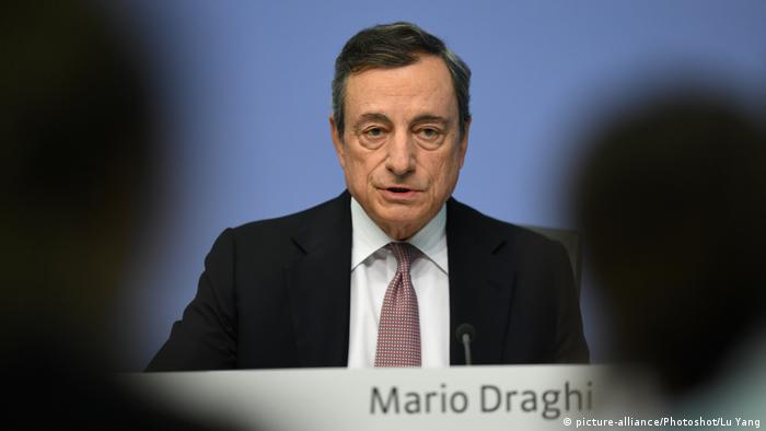 EZB | Pressekonferenz Mario Draghi (picture-alliance/Photoshot/Lu Yang)