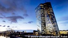 In this Tuesday, Dec. 11, 2018 photo the European Central Bank (ECB) sits next to the river Main in Frankfurt, Germany. The European Central Bank could take action including a possible rate cut at its policy meeting on Thursday, as central banks around the globe get ready to rev up stimulus in order to support the long-running recovery from the Great Recession. (AP Photo/Michael Probst) |