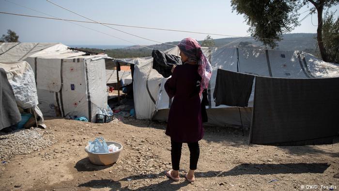 Die Lage der Flüchtlinge auf Lesbos (DW/D. Tosidis)