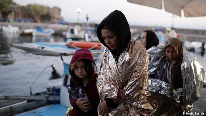 Türkiye'den Ege Denizi'ni aşarak Midilli Adası'na geçen Afgan sığınmacılar - Eylül/2019