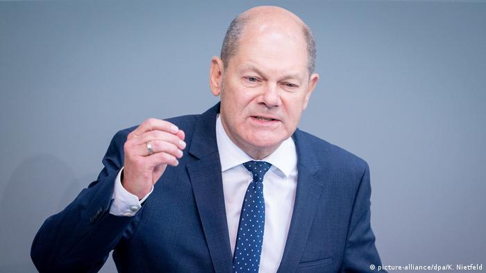 Bundestag | Haushaltsdebatte | Finanzminister Olaf Scholz