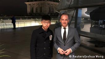 Deutschland   Hongkong-Aktivist Joshua Wong mit Außenminister Heiko Maas