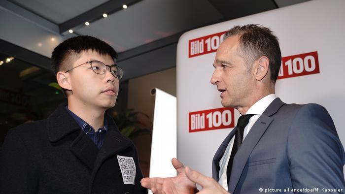 Joshua Wong et Heiko Maas n'auraient pas dû se rencontrer selon le gouvernement chinois