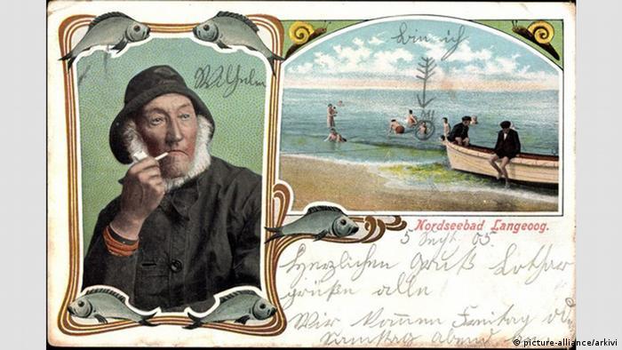 Курорт Лангеог на Северном море. Почтовая открытка начала XX века