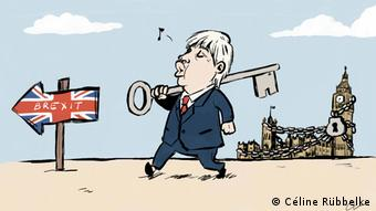 Karikatur Boris Johnson