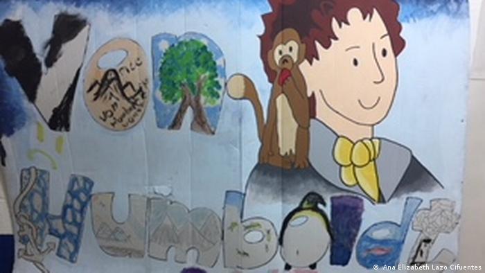 Los estudiantes del colegio Alexander von Humboldt en Guatemala pintaron un mural.