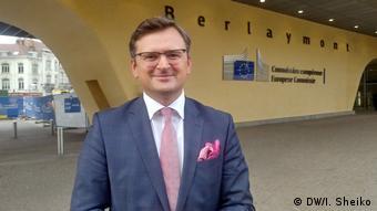 Віцепрем'єр України Дмитро Кулеба під час першого візиту до Брюсселя на посаді