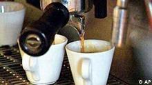 Kaffee aus der Expressomaschine