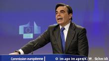 Margaritis Schinas im Pressezentrum der Europäischen Kommission