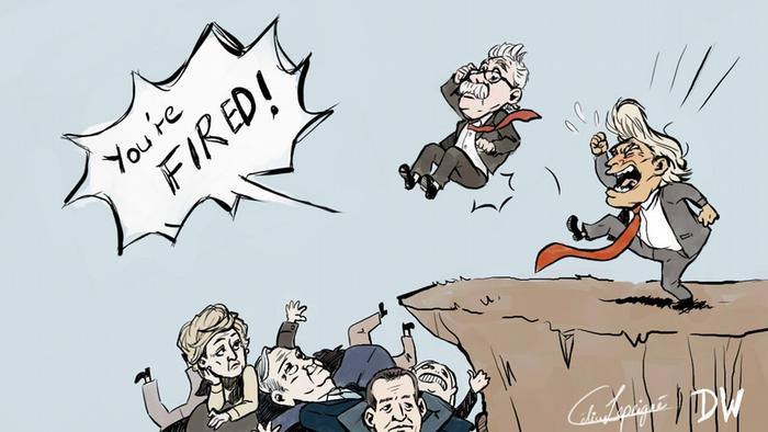 Karikatur Trump feuert Bolton