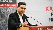 Der kaschmirischen Journalisten Gowhar Geelani