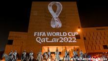 Logo der Fußball-WM 2022 in Katar