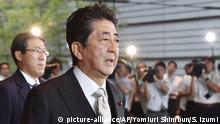 Japan Kabinettsumbildung Shinzo Abe