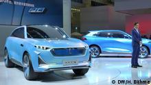 10/09/2019 Chinesischer E-Autohersteller Wey stellt auf der IAA in Frankfurt neue Fahrzeuge vor Copyright: DW / H. Böhme