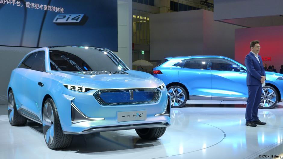 2019年法蘭克福車展上的長城WEY,該品牌將於秋季在德國推出