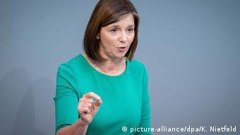 Bundestag - Generaldebatte | Katrin Göring-Eckardt (picture-alliance/dpa/K. Nietfeld)
