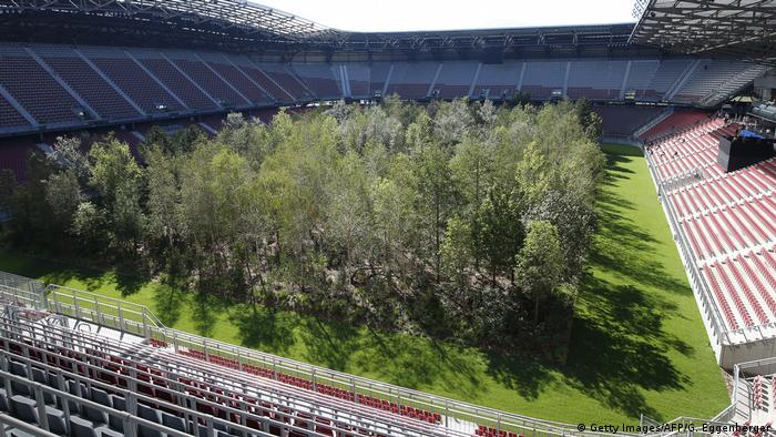 For Forest art installation of trees in a stadium (Getty Images/AFP/G. Eggenberger)