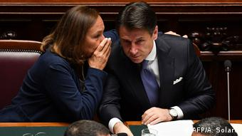 Luciana Lamorgese and Giuseppe Conte (AFP/A. Solaro)