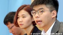 Joshua Wong vor der Bundespressekonferenz
