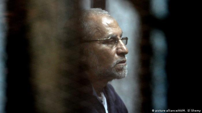 محمد بدیع در دادگاه- عکس به فوریه سال ۲۰۱۷ تعلق دارد