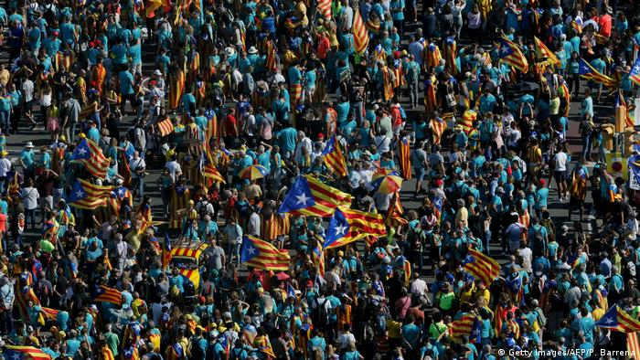 Spanien, Barcelona: Demonstrationen (Getty Images/AFP/P. Barrena)