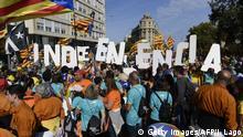 Spanien, Barcelona: Demonstrationen