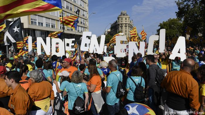 Spanien, Barcelona: Demonstrationen (Getty Images/AFP/J. Lago)