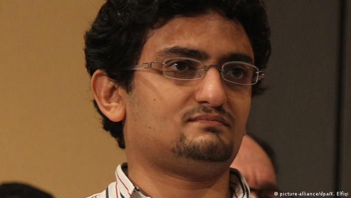 Egyptian activist Wael Ghonim attends the press conference of Presidential candidate Mohamed Morsi in Cairo, Egypt, 22 June 2012