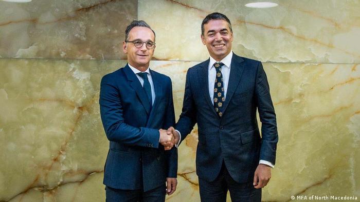 Deutschland   Nordmazedonien   Außenminister   Heiko Maas   Nikola Dimitrov (MFA of North Macedonia)