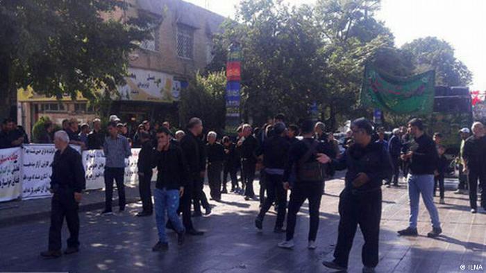 Iran Arbeiterprotest in Ghazwin