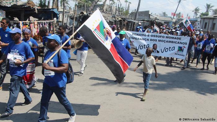 Mosambik Beira RENAMO-Wahlkampf (DW/Arcénio Sebastião)