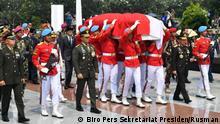 Indonesien Jakarta Beerdigung von Bacharuddin Jusuf Habibie