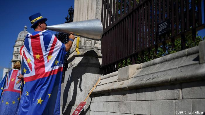 London Anti-Brexit Aktivist Steve Bray (AFP/D. Leal-Olivas)