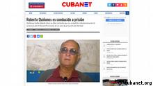 Screenshot der Website cubanet.org