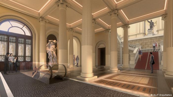Projeto de restauração do interior do Museu do Ipiranga
