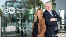 Marie-Christine Saragosse und DW-Intendant Peter Limbourg (DW/P. Böll)