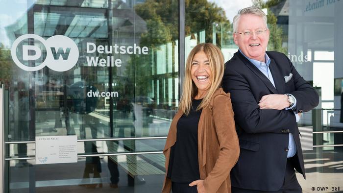 Marie-Christine Saragosse und DW-Intendant Peter Limbourg