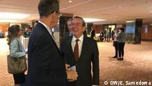 """Konferenz """"The Future is Connected: Industrial Policy in Geopolitically Challenging Times"""" in Moskau mit Gerhard Schröder Aufenommen in Moskau am 12.09.2019 Foto - E. Samedowa (DW)"""