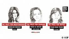 Preisträger Press Freedom Awards von Reporter ohne Grenzen