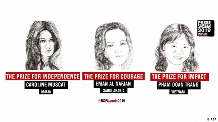 Reporters Without Borders prize winners