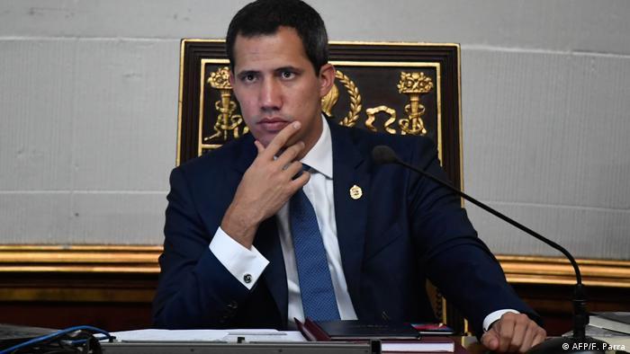 Venezuela Caracas Juan Guaido in der Nationalversammlung