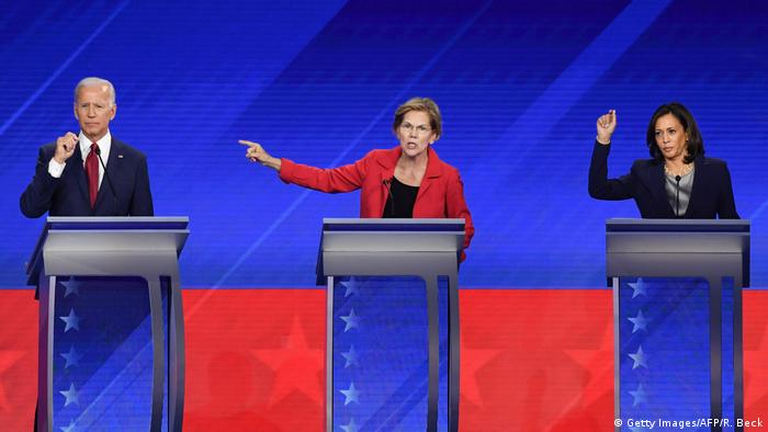 USA TV-Debatte der demokratischen Präsidentschaftsbewerber (Getty Images/AFP/R. Beck)