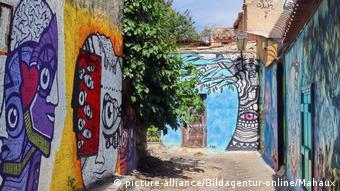 Griechenland Athen Plaka Anafiotika Graffiti an der Wall Street