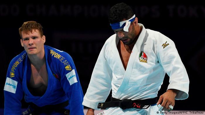 Judo WM 2019 | Saeid Mollaei aus Iran gegen Matthias Casse aus Belgien (Getty Images/AFP/C. Triballeau)