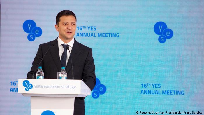 Ukraine Kiew   Volodymyr Zelenskiy hält Rede während der Yalta European Strategy Treffen (YES) (Reuters/Ukrainian Presidential Press Service)